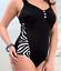 Plus Size Women Tummy Control Padded Push Up Bathing Monokini Bikini Swimsuit