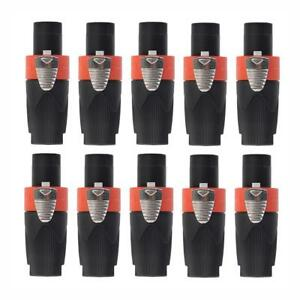 10pcs-4-Pole-Male-Speakon-Audio-Cable-Connector-Speaker-Plug-For-NEUTRIK-NL4FC