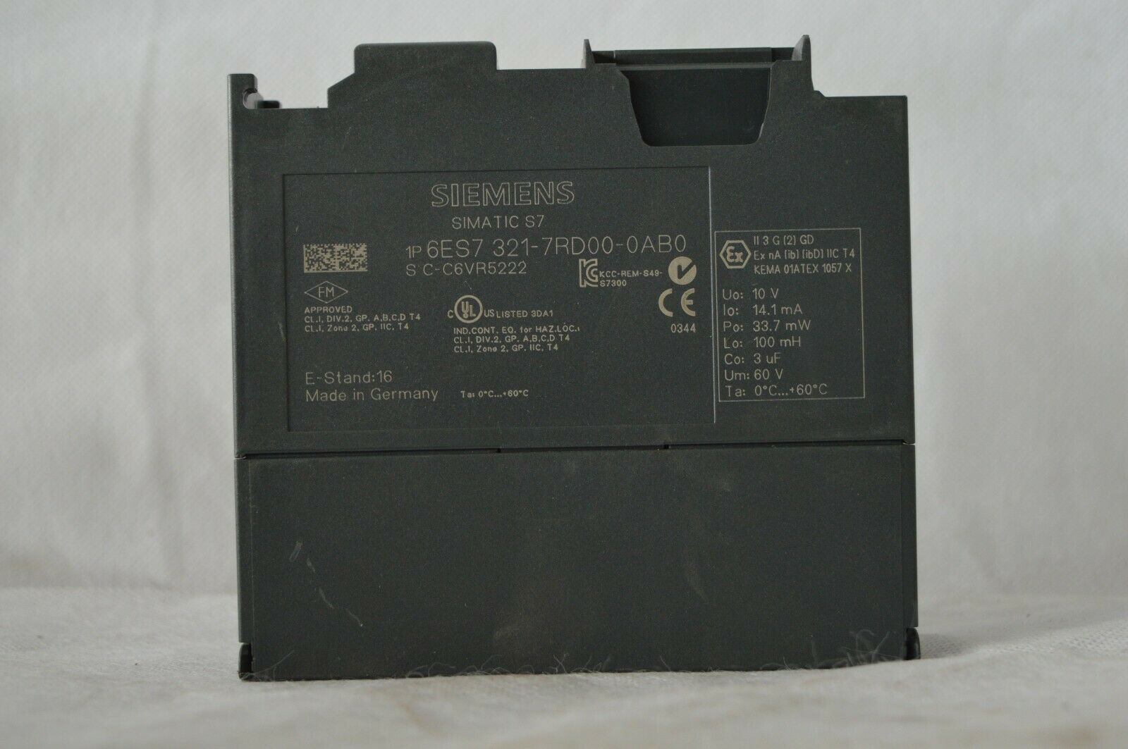 Siemens Simatic S7  6ES7 321-7RD00-0AB0 E-Stand  16 (T.201)