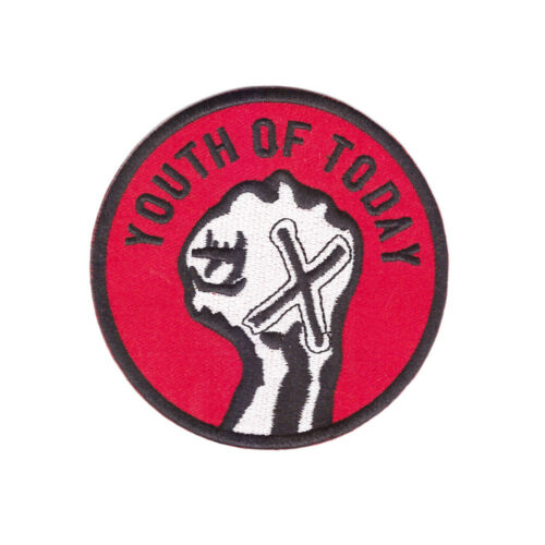 YOUTH OF TODAY Embroidered Patch NYHC New York Hardcore sXe Gorilla Biscuits