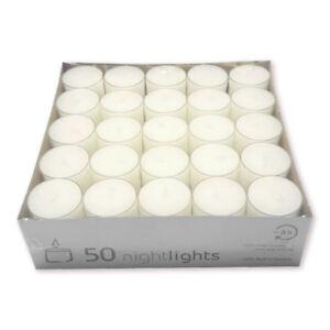 50 Teelichter im Acryl Cup transparent ca Brenndauer Wenzel Teelichte 8 Std
