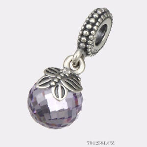 2b4456572 Image is loading NEW-Authentic-Pandora-Charm-Purple-Morning-Butterfly-Dangle -
