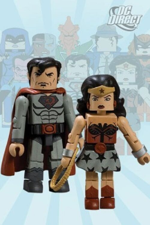 Dc - universum minimates reihe 8 wonder woman & superman diamond wählen jc