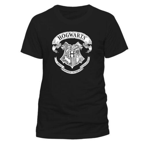 Official Harry Potter Hogwarts Crest T Shirt Black NEW S M L XL XXL