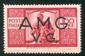 1945-7-AMG-VG-Democratica-100-lire-formato-maggiore-nuovo-integro-spl-MNH