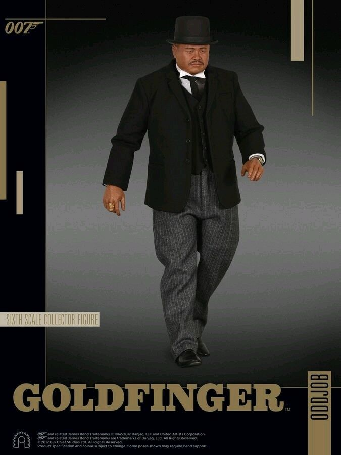Figuras 1:6 escala  James Bond: Goldfinger Oddjob 12 - escala 1:6 Figura De Acción