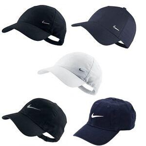 43f9367cf04 Mens Nike Swoosh Metal Sports Cap Golf Baseball Adjustable Hat White ...