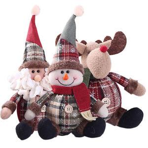 Eg-Natale-Bambola-Babbo-Pupazzo-di-Neve-Renna-Albero-da-Parete-Ornamenti