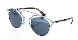 b0a43f575e Authentic Dior So Real Silver Aqua Two Tone Mirrored Sunglasses ...