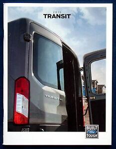100% De Qualité Prospectus Brochure 2015 Ford Transit (usa)-afficher Le Titre D'origine