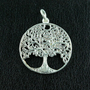 Tree of Life Pendant Real 925 Silver Life Tree Energy Unisex Gift