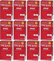Trojan Enz Non-lubricated Condoms 12 Pack = 144 Condoms on sale