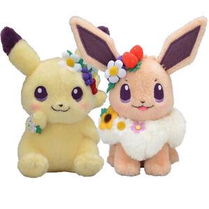 Christmas Eevee.Anime Fete Spring Eevee Pikachu Detective Plush Doll Toy