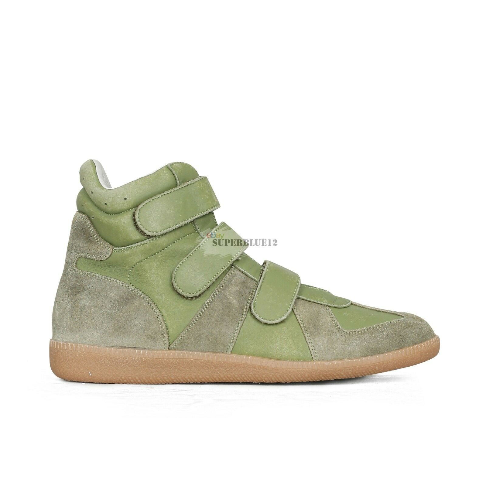 MAISON MARTIN MARGIELA GERMAN ARMY TRAINERS HIGH GREEN