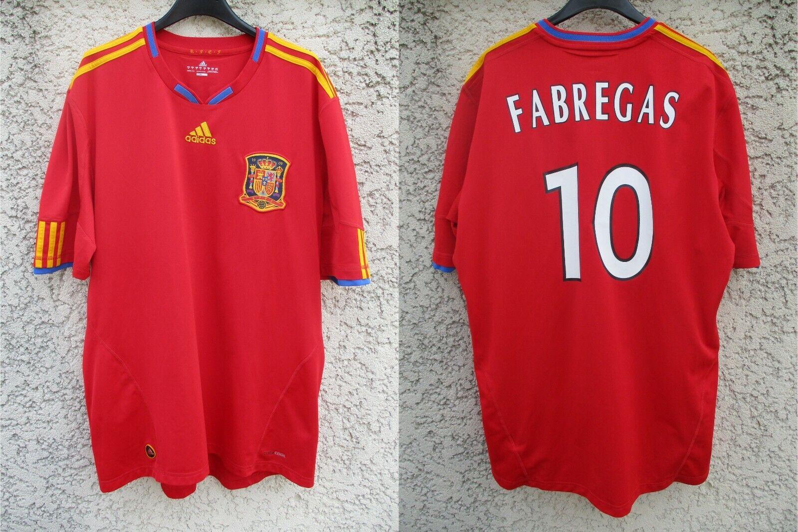 Maillot ESPAGNE ESPANA FABREGAS camiseta Copa Del Mundo ADIDAS World Cup 2010 XL
