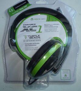 2new Scellé Turtle Beach Turtle Beach Ear Force Xc1 Noir/vert Xbox 360 Casque-afficher Le Titre D'origine