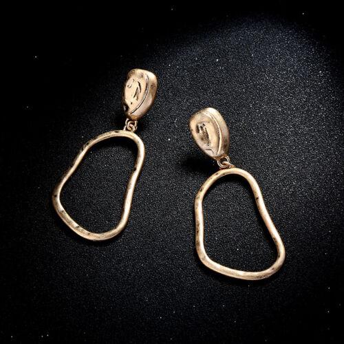 Acabado Mate Oro Geométrico Irregular cuelgan pendientes estilo Cos