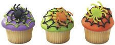 12 Spider Cupcake Party Favor Rings Halloween