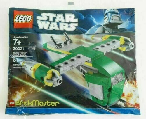 LEGO 20021 Star Wars Bounty Hunter Assault Gunship Brickmaster polybag NIB