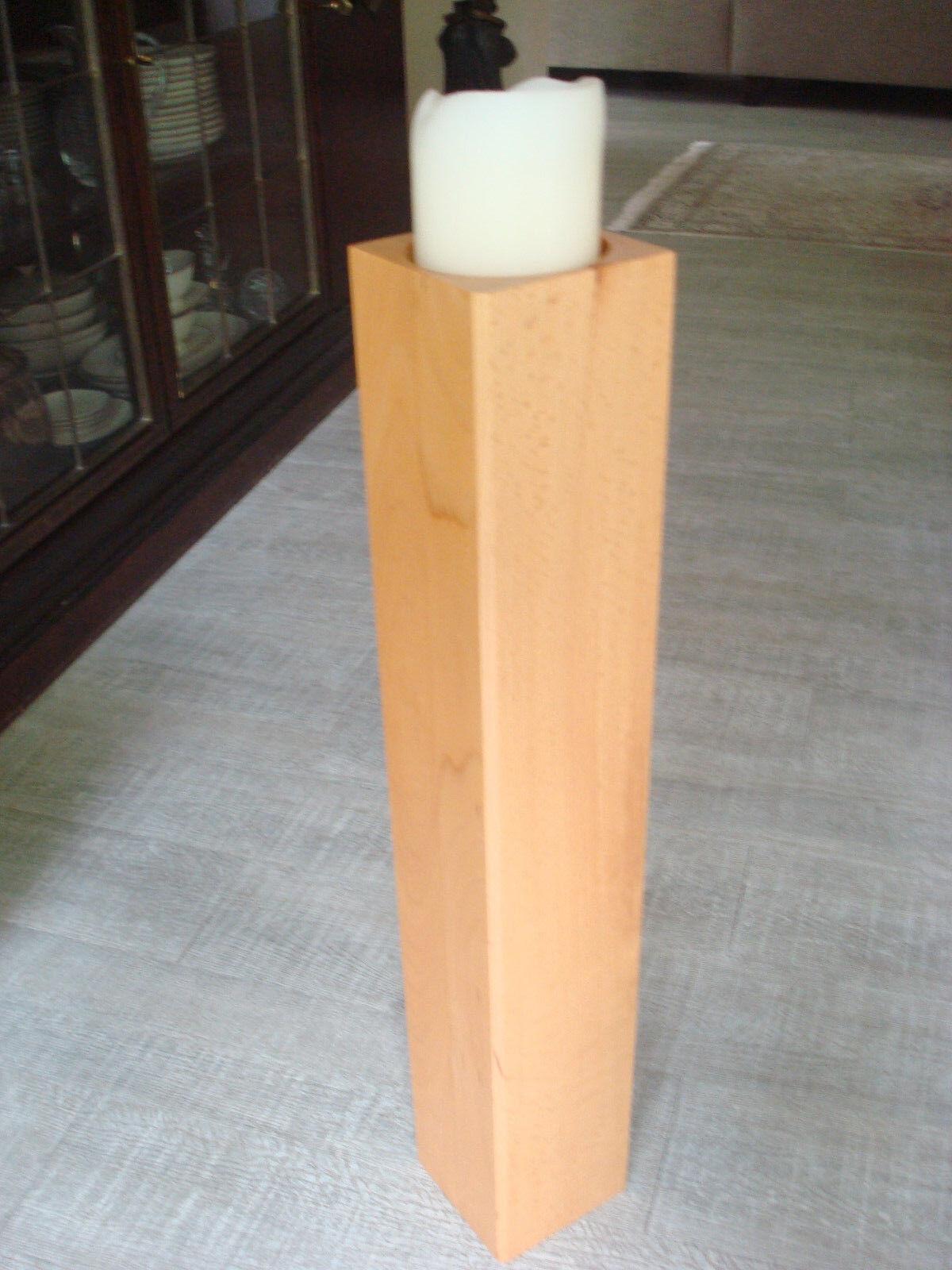 Kerzenständer Massiv Holz Buche Höhe 70 cm, Muster, für Kerzen Durchmesser 10 cm