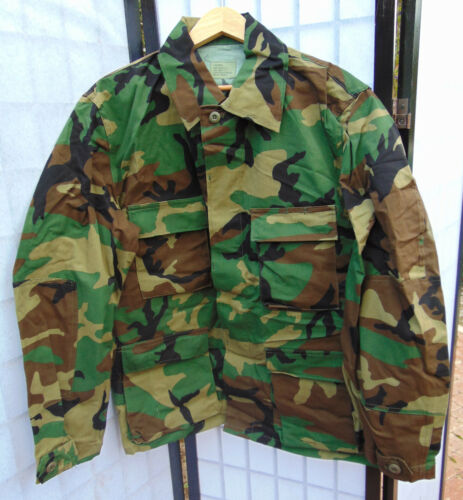 U.S.Military Woodland Camo Combat Coat//Jacket Size L//XL//Long new IRR condition