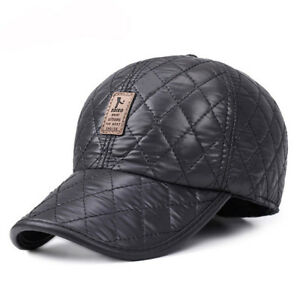 078c9aeb659a4 Winter Hats with Ears Baseball Cap 5 Panel Bone Warm Woolen Thick ...