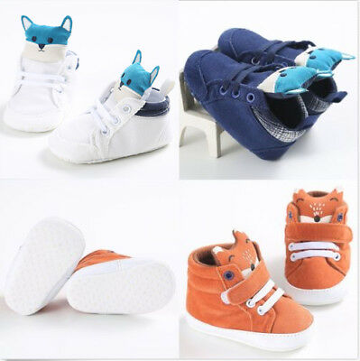 Cute Baby Girl Boys Funny Tod Hight Cut Shoes Sneaker Anti-slip Soft Sole Shoes