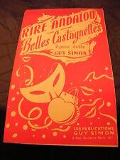 Partitur Rire Andalusischen Belles kastagnetten von Guy Simon