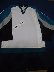 info for dfb99 4b5e2 Details about San Jose Sharks NHL HOCKEY CCM BLANK JERSEY Size Small Sport  Maska Adult