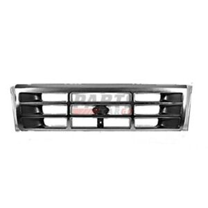 New For FORD BRONCO F-150 Front Grille Black Fits 1992-97 F6TZ8200AAA FO1200172