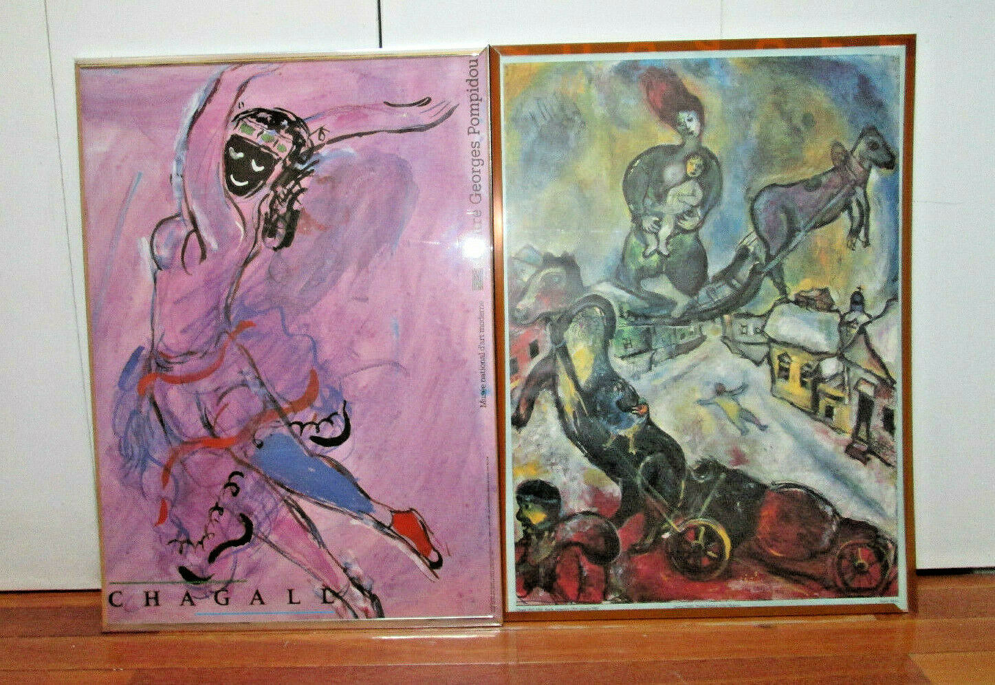 Guerra, Marc Chagall, Rare Offset Lithograph Art Prints, and L'Oiseau de Feu,