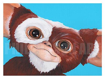 Orignial Mogwai Gizmo Gremlins Giclée Figure Art Print Figure Blu Poster Horror
