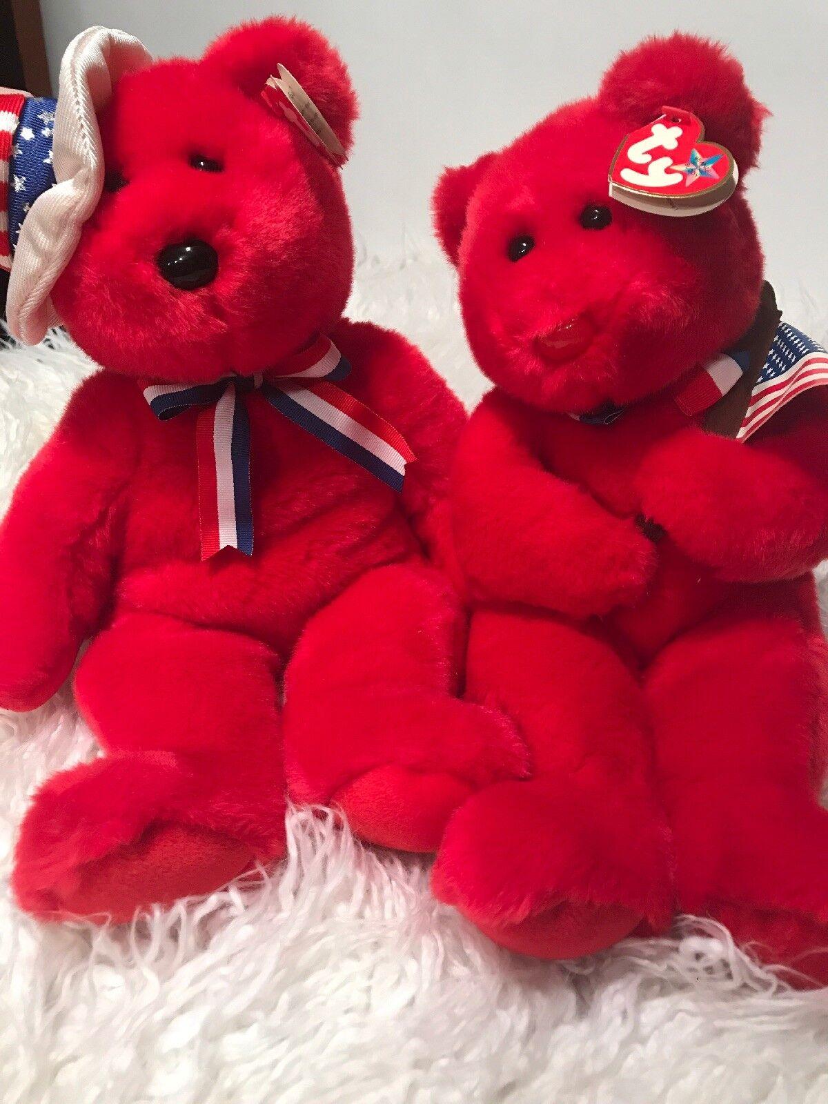 TY Beanie Buddy - THOMAS the Bear (14.5 inch) - MWMTs Stuffed Animal Toy