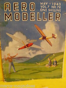 RARE-AEROMODELLER-MAY-1942-BALSA-BUG-PLAN-MODEL-AIRCRAFT-C-RUPERT-MOORE