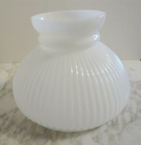 Details About Vintage Ribbed Milk Glass Lamp Shade