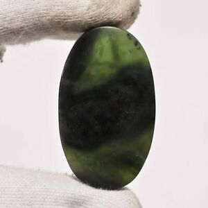 65 Ct. Natural Nephrite Jade Oval Cabochon Loose Gemstone For Jewelry ZZ-6838