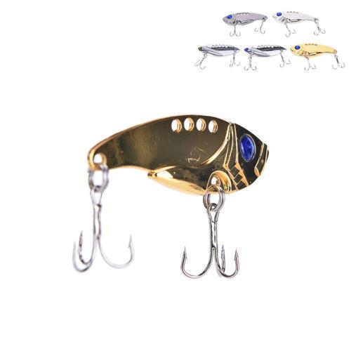 5PCS Lot Metal VIB Blade Fishing Lures Crankbaits Bass Hook Tackle 5cm 11g DP P3