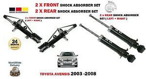 FOR-TOYOTA-AVENSIS-2003-2008-2x-FRONT-2x-REAR-SHOCK-ABSORBER-STRUT-SHOCKER-SET