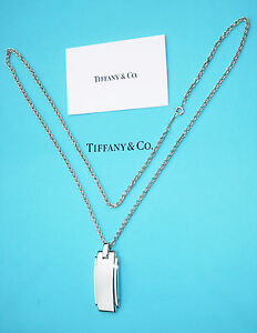 Tiffany-amp-Co-Plata-De-Ley-Metropolis-Colgante-Hombres-61cm-Collar