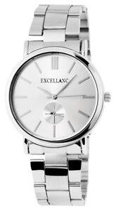 Excellanc-Herrenuhr-Silber-Edelstahl-Chrono-Look-Quarz-Armbanduhr-X280322500031
