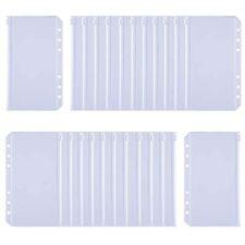 Antner 24pcs Binder Pockets A6 Size Holes Zipper Pouch Folders Clear Waterproof