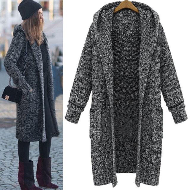 a42d8dc77f0 Women Winter Warm Long Sleeve Knitted Cardigan Coat Jacket Outwear Loose  Sweater