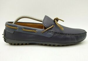 Cole-Haan-Navy-Blue-Leather-Casual-Deck-Boat-Driving-Loafers-Shoes-Men-039-s-9-M