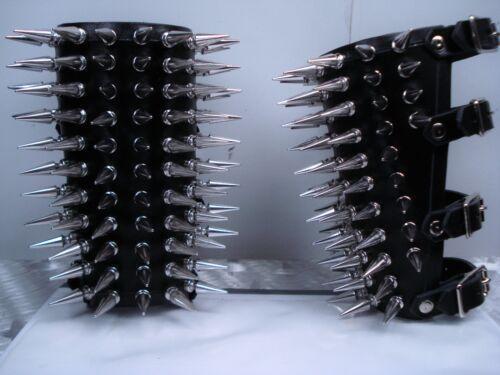mdlg 0043 Ragnarok/'s Guantes De Cuero Con Picos Black Metal.. ..