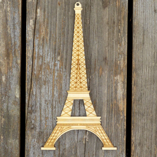 10x monumento de Madera Torre Eiffel Artesanía Formas 3mm madera contrachapada monumentos emblemáticos
