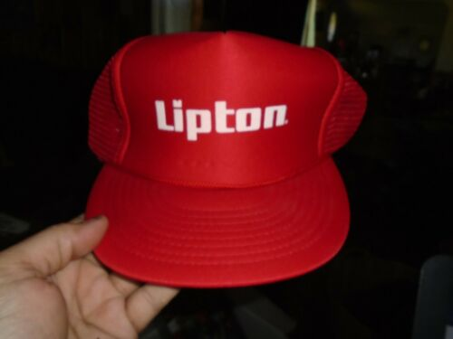 VINTAGE Lipton Men's Snapback Hat Cap Red