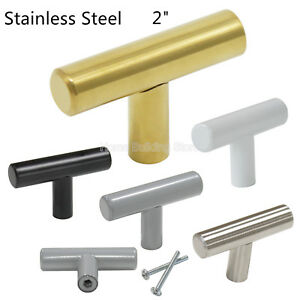 Image Is Loading 2 034 Kitchen Cabinet Knobs Stainless Steel Pull