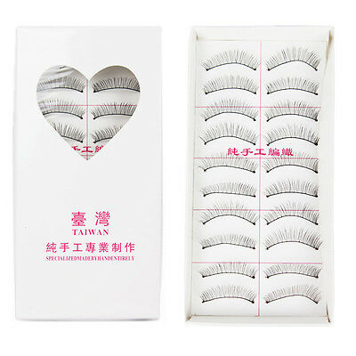 10 Pairs Natural Long Thick False Eyelashes Fake Eye Lashes Voluminous Makeup