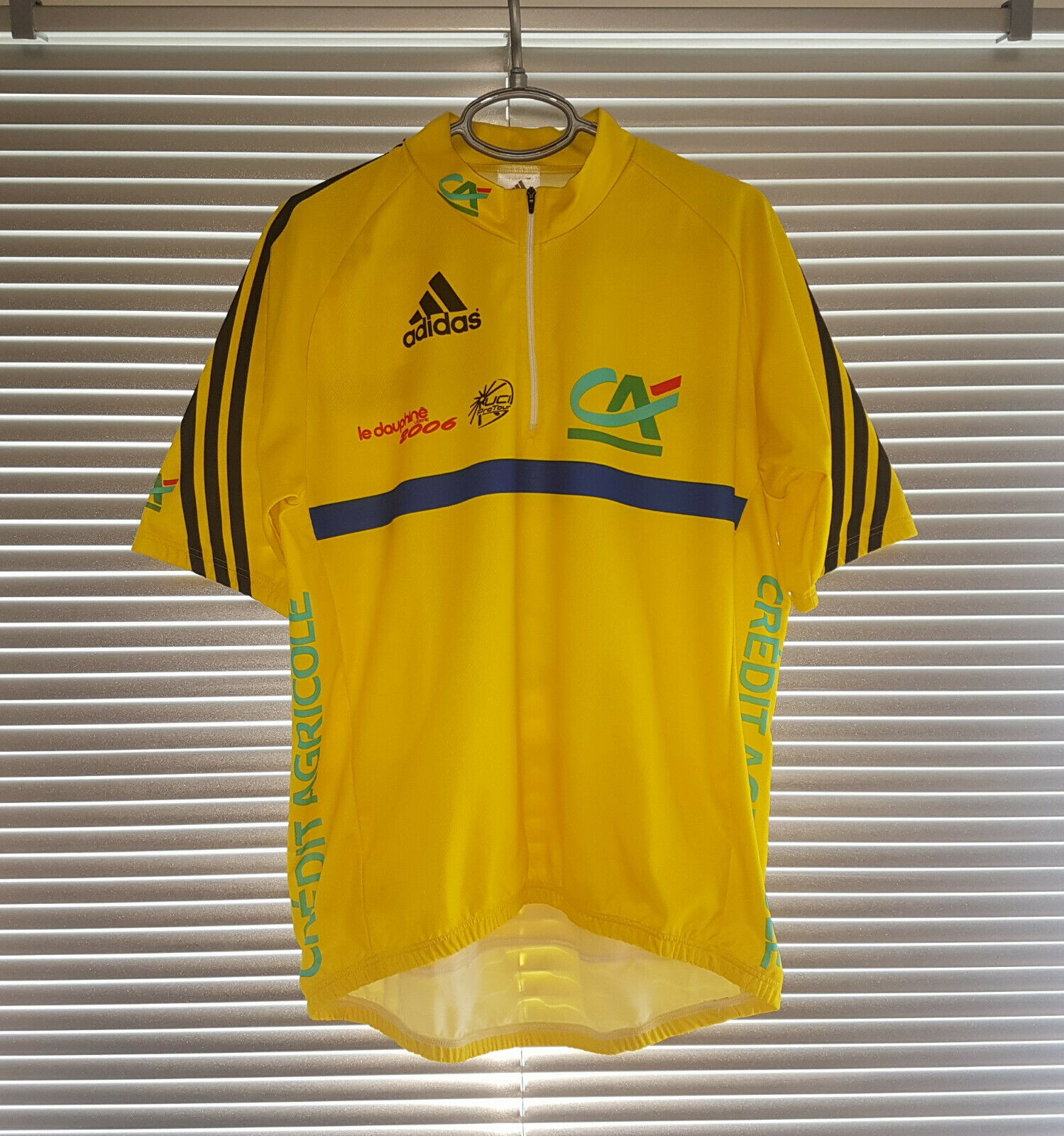 Credit Agricole La Dauphine  2006 Adidas Jersey Yellow Men Size XL  discounts and more