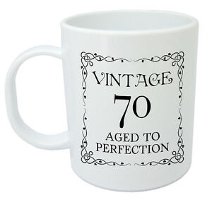 Image Is Loading Vintage 70 Mug 70th Birthday Gift Presents For